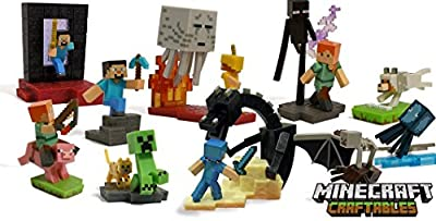 Minecraft Craftables Series Figure Chase Piece Ender Dragon Set 0f 10 by Minecraf