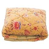 Ian Snow Wild Meadow Velvet Quilt, Yellow