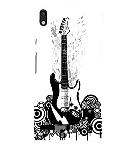 Guitar 3D Hard Polycarbonate Designer Back Case Cover for Huawei Ascend P6 :: Huawei P6 :: Huawei Ascend P6 Dual
