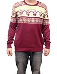 Christmas Sweater Design Burgundy X Large