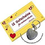 RNK Verlag Gutscheinheft ´Für meinen Schatz´, gelb 28722 inklusive romantisches Herz in Marmor-Grau