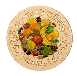 Italian Decor Lazy Susan with the Italian words Those Who Eat Well are Closer to God