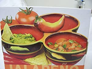 Clay Art Jalapeno 3 Section Condiment Server