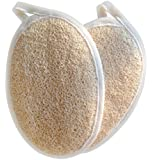 Exfoliating Loofah Pads - 2 Pack for Bath, Spa and Shower - For Men and Women - Durable and Easy to Use - 100% Natural High Quality Loofah. Each Purchase comes with Plastic Suction Hook for Hanging to Dry.