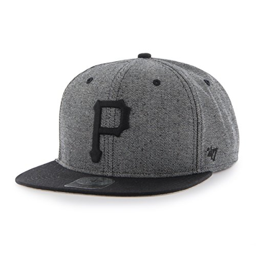MLB Pittsburgh Pirates Giovanni Captain Adjustable Snapback Hat, Black, One Size