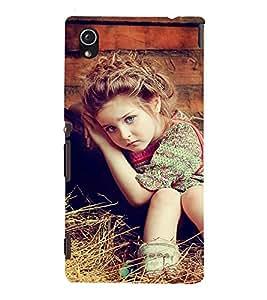 Fuson Premium Back Case Cover Cute Baby on grass With Multi Background Degined For Sony Xperia M4 Aqua::Sony Xperia M4 Aqua Dual