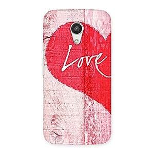 Enticing Love Pink Multicolor Back Case Cover for Moto G 2nd Gen