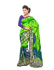 FadAttire Georgette Chiffon Printed Saree With Blouse FAPKS35