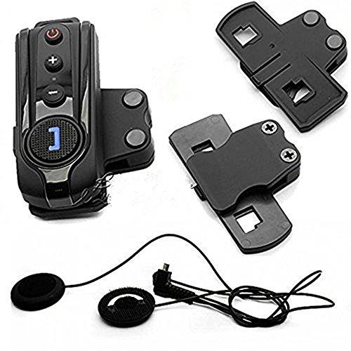 BT-S1 Bluetooth Motorcycle Helmet Intercom Headset FM w/Free Soft Eaerpiece + Clip + Hopezone Free Gift Keychain