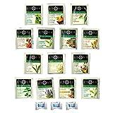 Stash Tea Organic Sampler Gift Box (42 Tea Bags) - Assortment of Black, Green, White, Herbal, and Decaf