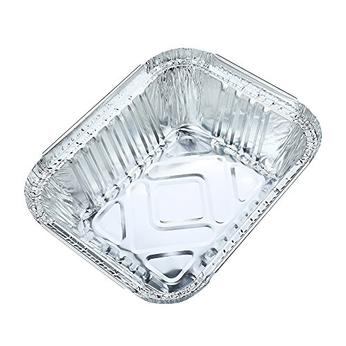 10pcs Square Disposable Aluminum Foil Pans Food Storage Containers Bakeware Pans with Lids-Crystallove (Size 1) (Freezer To Oven Small Dishes compare prices)