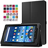 MoKo Case for Fire 7 2015 – Slim Folding Cover for Amazon Fire Tablet (7 inch Display – 5th Generation, 2015 Release Only), BLACK