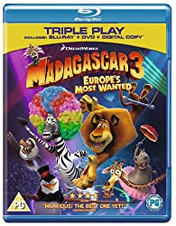 Madagascar 3: Europe's Most Wanted - Triple Play (Blu-ray + DVD + Digital Copy)[Region Free]