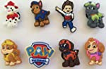Paw Patrol mix Shoe Charms Set of 8 -...
