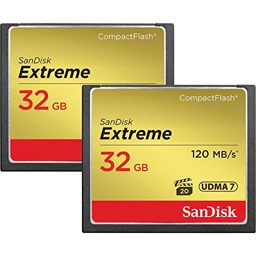 SanDisk Extreme 32GB CompactFlash Memory Card UDMA 7 Speed Up To 120MB/s 2-Pack (32 Gb Sandisk Cf compare prices)