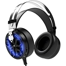 APIE Gaming Headset Comfortable 3.5mm Stereo Over-ear Headphone USB Wired PC Gaming Headset With Mic Vibration...