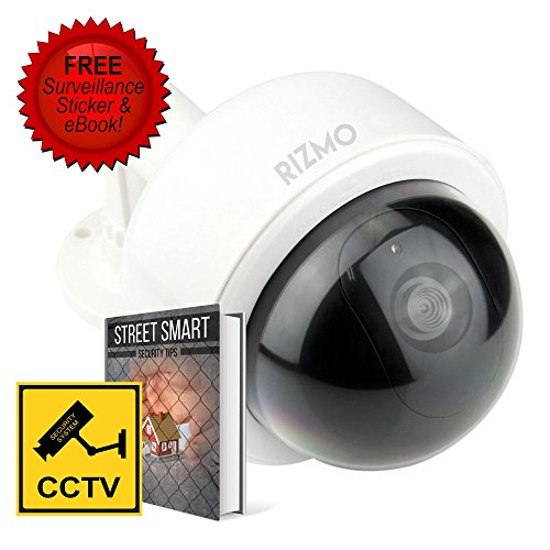 Ultimate fake camera bundle indoor outdoor dome dummy camera rizmo ultimate fake camera bundle indoor outdoor dome dummy camera with blinking led lights fake camera with free surveillance sign mozeypictures Images