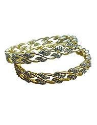 Sheetal Jewellery Silver & Golden Brass & Alloy Bangle Set For Women - B00TIH3IRS