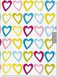 Hearts Locking Journal (Notebook, Diary) (2nd Gen Lock)
