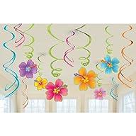 Luau Swirl Hanging Decorations Value…