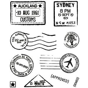 BasicGrey Wander Bitsy Stamps, Air Mail