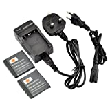 DSTE 2pcs NP-FE1 Rechargeable Li-ion Battery + Charger DC02U for Sony Cyber-shot DSC-T7, Cyber-shot DSC-T7/b, Cyber-shot DSC-T7/S Digital Camera etc