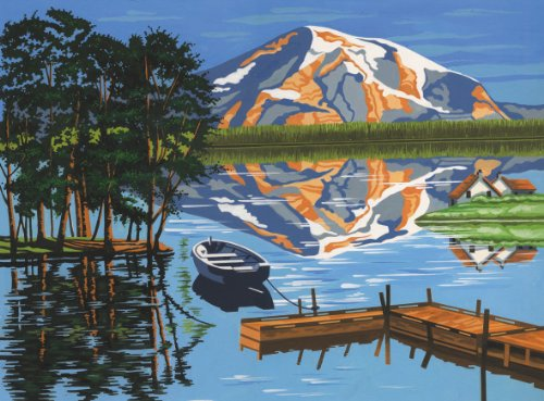 Reeves Lake Acrylic Painting Set by Numbers, Large