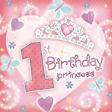 First Birthday Princess Beverage Napkins Value Pack 36