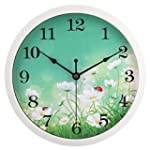 HITO Modern Colorful Floral Silent No...