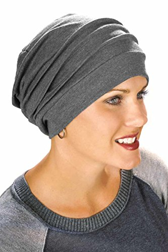 100% Cotton Slouchy Snood | Slouchy Beanie Hat | Cancer Hats for Chemo Charcoal Heather (Cancer Head Caps compare prices)