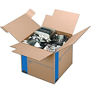 Bankers Box SmoothMove Fast Assembly Tape-Free Moving and Storage Boxes, Medium, 8 Pack (0062801)