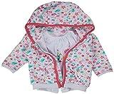 Kanz Baby - Mädchen Bekleidungsset Sweatjacke 1/1 Arm + T-Shirt 1/4 Arm + Jogginghose, Gr. 74, Mehrfarbig (allover|multicolored 0003)