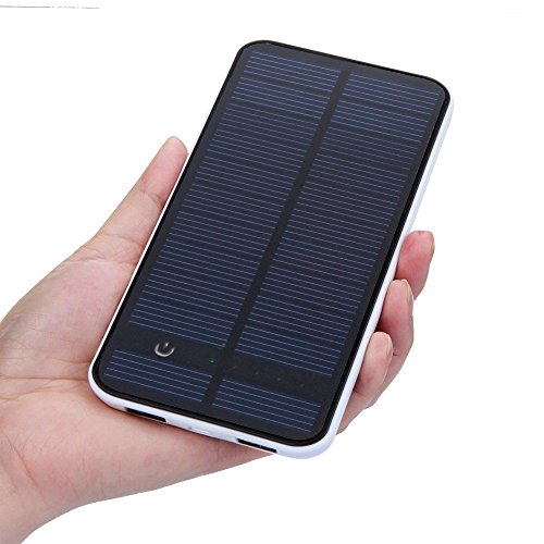 Solar Charger - Energy Oasis Solar Portable Phone Battery Charger 12000mah Large Capacity Charger 1.5w 5v Portable Backup Power Bank Pack Multifunctional Dual USB Charger for Iphone 6, 6 Plus, 5s, 5c, 4s, 4, Ipods, Ipad Mini Retina (Apple Lightning Adapter Included), Samsung Galaxy Note 2, Note 3, Note4, S2 S3, S4, S5, Most Android/windows Smart Cell Phones, Gps, Tablets, and Other Usb-charged Devices