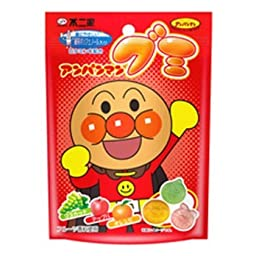 Fujiya Japan Anpanman Gummy (Muscat, Apple, Orange) 50g x 10 bags