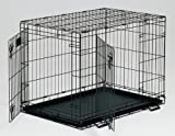 51dxja0JqpL. SL160  Midwest Life Stages Double Door Folding Metal Dog Crate, 36 Inches by 24 Inches by 27 Inches
