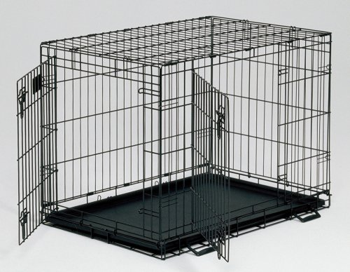 Cheap Midwest Life Stages Double-Door Folding Metal Dog Crate, 36 Inches by 24 Inches by 27 Inches