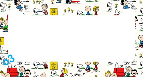 snoopy-peanuts-gang-comic-strip-collage-license-plate-frame-alumminum-car-auto-a