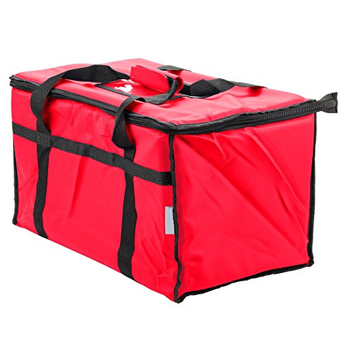 Insulated Food Delivery Bag Pan Carrier (Red) (Commercial Food Carrier compare prices)