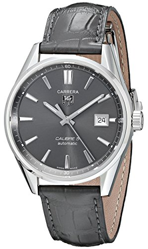 TAG Heuer Men's WAR211C.FC6336 Carrera Calibre Watch with Black Band