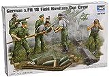 Trumpeter 00425 Modellbausatz German Field Howitzer Gun Crew on firing