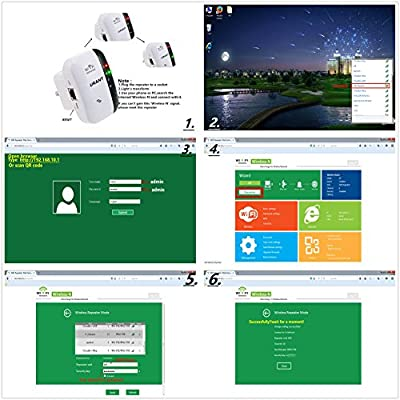 Urant Wireless Wifi Repeater Long Range Extender Amplifier 2.4GHz Network Adapter Wireless-N Mini AP Access Point Dongle IEEE802.11N/G/B Mini AP Router Signal Booster(300M-New Chip)