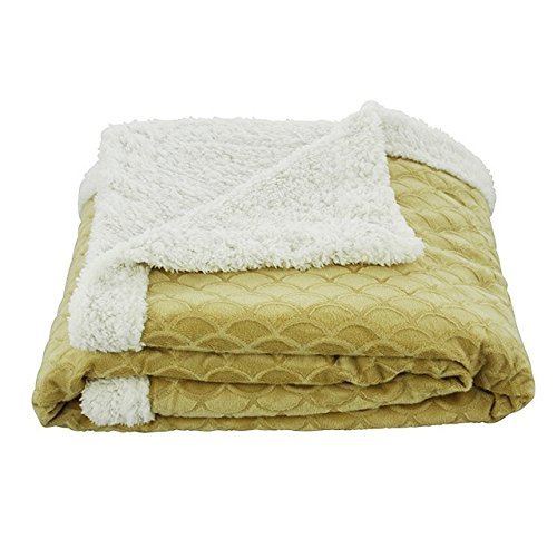 Gold Throw Blanket front-1061608