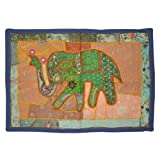 Embroidered Cotton Wall Hanging Tapestry Mirror Work Patchwork 27 By 37 Inches