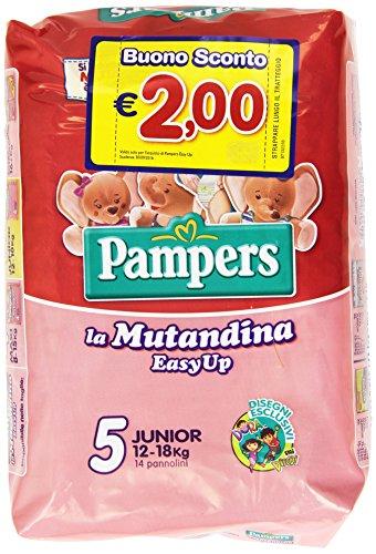 Pampers Easy Up in Mutandina, 14 Pannolini, Taglia 5 (12-18 kg)