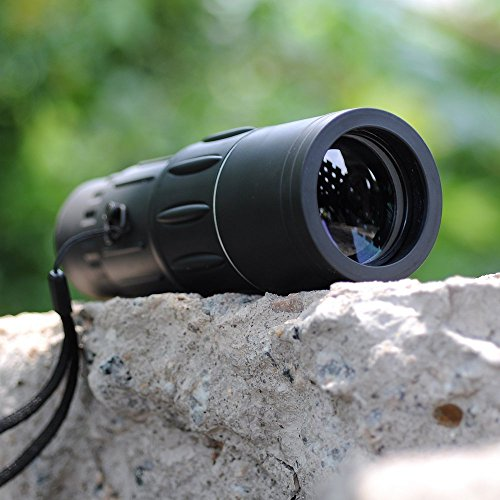 AGPtEK® Outdoor Super Clear 16x52 Dual Focus Day and Night Vision Telescope Optics Zoom Monocular Scalable Telescopic 66m/ 8000m for Birds/Hunting/Camping/Hiking Armoring