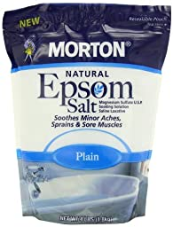 Morton Epsom Salt, Plain U.S.P., 4 Pound