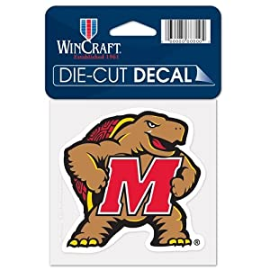 Buy Maryland Terrapins Official NCAA 4x4 Die Cut Car Decal by Wincraft by WinCraft