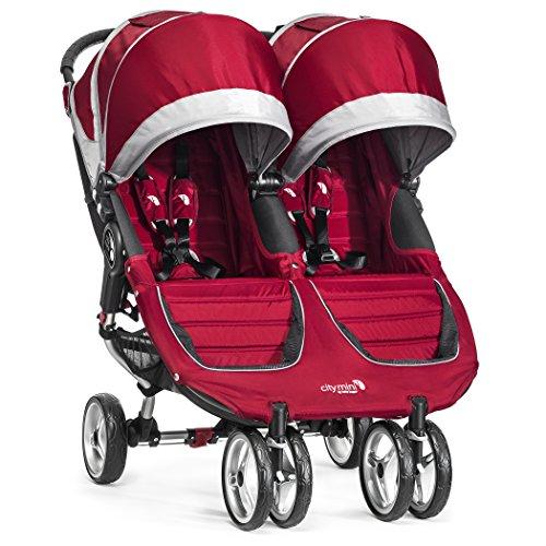 Baby Jogger City Mini Double Stroller, Crimson/Gray front-790409