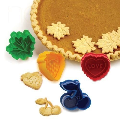 Norpro Set of 4 Pie Top Cutters Cut-out Patterns Crust Heart Cherry Leaf - 3257 (Pie Cutouts compare prices)