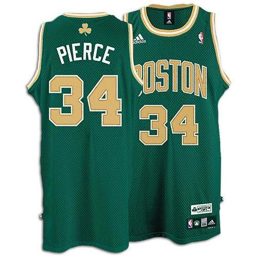 the latest 5f26f 0bb52 adidas Boston Celtics #34 Paul Pierce Kelly Green St ...